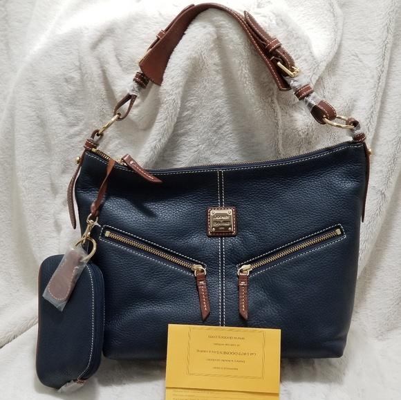 Dooney & Bourke Handbags - DOONEY & BOURKE MARY CE47C HOBO BAG MARINE BLUE